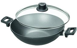 Woll Nowo Titanium Wok with Side Handles and Lid, 12.5-Inch