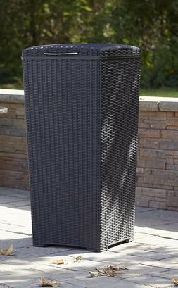 Outdoor Trash Can with Lid Large 33Gallon Patio Kitchen Garb