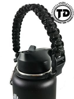 Paracord Strap Handle with Safety Ring and Carabiner for Hyd