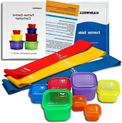 Portion Control Container Kit Resistance Bands Food Plan Die