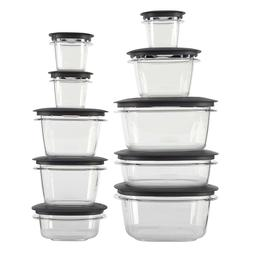 Rubbermaid Premier Food Storage Containers with Easy Find Li