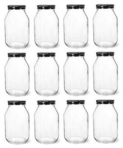 North Mountain Supply 32 Ounce Quart Glass Regular Mouth Mas