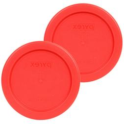 Pyrex 7202-PC Red 1 Cup, 236mL Round Storage Lid 2 Pack