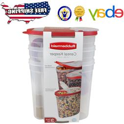 Red - Rubbermaid Cereal Keeper Kitchen Dry Food Storage Cont