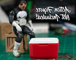 Red Cooler with Lid Diorama PROP ONLY 1/12