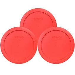 "Pyrex 7201-PC 6"" Red Round Replacement Cover Lid New for 4 C"