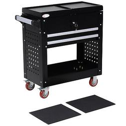 Rolling Tool Cart, Toolbox, Tool Organizer with Open Lid and