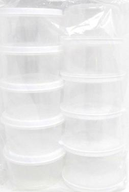 Round Container, With Lid, 10-Pack, 2.3 fl oz, small, food,