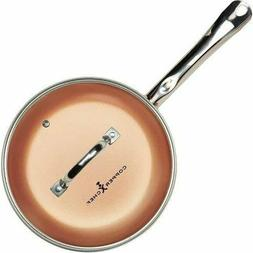 Round Frying Pan With Lid Skillet with Ceramic Non Stick Cop