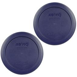 "Pyrex 7200-PC Round 2 Cup 5"" Storage Lid Cover 2 Pack Blue f"