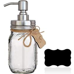 Premium Rustproof 304 18/8 Stainless Steel Mason Jar Soap Pu