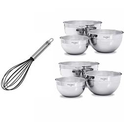 Cuisinart SB-302NL Set of 6 Stainless Steel Mixing Bowls w/o
