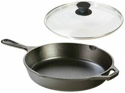 Lodge Seasoned Cast Iron Skillet w/Tempered Glass Lid  - Cas