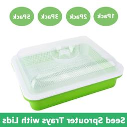 Seed Sprouter Tray with Lid Sprouting Tier Extra Small Hole