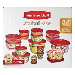 Rubbermaid 50 Piece Set Easy Find Lid BPA-FREE Plastic Food