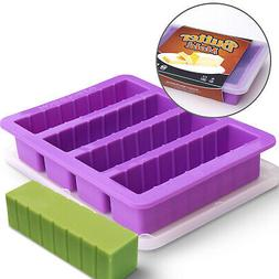 Silicone Butter Mold Tray with Lid