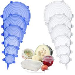 12 Pack Silicone Stretch Lids - More Stretchable