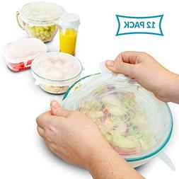 SILICONE STRETCH LIDS 12-Pack - 6 Sizes | Stretchable Silico