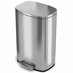 iTouchless SoftStep 13.2 Gallon Step Trash Can with Odor Fil