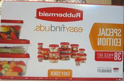 Rubbermaid special edition 38pc set with easy find lids