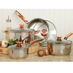 Stainless Steel 8 Piece Cookware Set Non Stick Cooking Pots