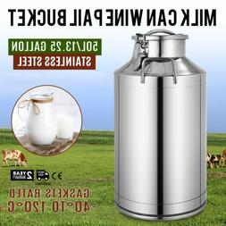 Stainless Steel Milk Can with Lid - 50L capacity