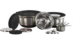 Imperial Home 17 Pc Stainless Steel Mixing Bowl Set Includes