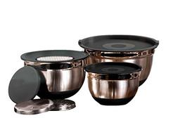 Imperial Home 9 Pc Stainless Steel Mixing Bowl Set & 3 Kitch