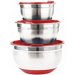 Fitzroy and Fox Non-Slip Stainless Steel Mixing Bowls with L