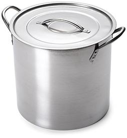 IMUSA USA L300-40316 Stainless Steel Stock Pot with Lid 16-Q