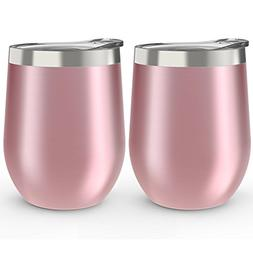 CHILLOUT LIFE Stainless Steel Stemless Wine Glass Tumbler 2