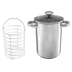 Stainless Steel Tall Asparagus Steamer Pot with Basket Induc