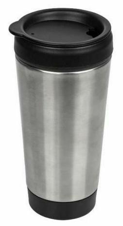 Stainless-Steel Travel Mug with Push Lid, 14 oz. Insulated T