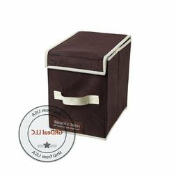 Storage Box with Lid Folding Basket Bin Container Home Organ