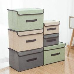 Storage Boxes With Lid Home Storage Baskets Containers Bins