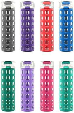 Ello Syndicate BPA-Free 20 oz Glass Water Bottle with Flip L