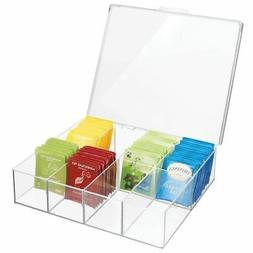 tea storage organizer box 8 divided sections