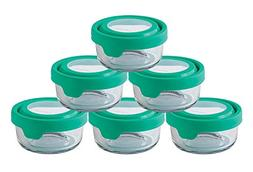 Anchor Hocking TrueSeal Glass Food Storage Containers with L