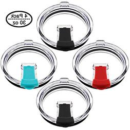 Ambox 30 oz Tumbler Lids, 4 Pack Replacement Tumbler Lid for