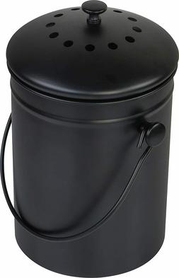 1.3 Gallon Stainless Steel Compost Bin with Lid By Utopia Ki