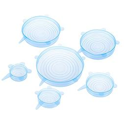 6 Pack Silicone Stretch Lids – Various Size Reusable Food