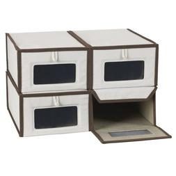Household Essentials 5200-4 Vision Small Shoe Box 4 Pack