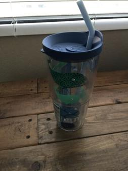 Tervis Whale Pattern Insulated Tumbler with Wrap and Blue Li