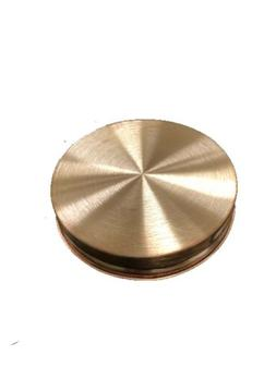 Wide Mouth Pure Copper Mason Jar Lid - w Gasket Make Your Ow