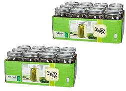 Ball Wide Mouth Quart Glass Jars 12 Pack | Freezer Safe