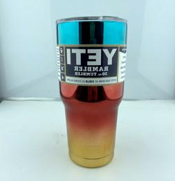 Yeti 30oz Stainless Steel Tumbler Rainbow Chrome 2 Cup with