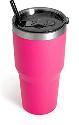 Zibtes 30oz Insulated Tumbler With Lids and Straws, Stainles